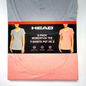 NWT HEAD Momentum Tee 2-pack t-shirt grey and pink